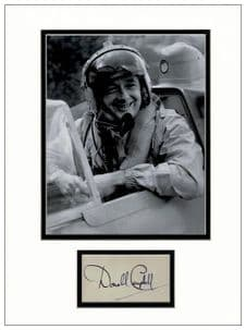 Donald Campbell Autograph Signed Display