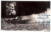 Donald Campbell Autograph Signed Photo - Blue Bird