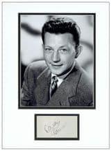 Donald O'Connor Autograph Display