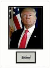 Donald Trump Autograph Display