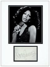 Donna Summer Autograph Signed Display