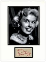 Doris Day Autograph Signed Display