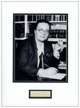 Dorothy L Sayers Autograph Signed Display