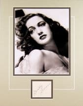 Dorothy Lamour Autograph Signed