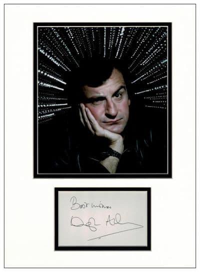 Douglas Adams Autograph Signed Display