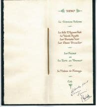 Duke of Edinburgh Autograph Signed Menu