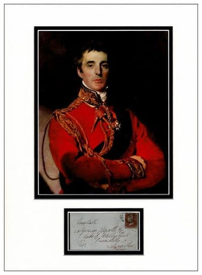 Duke of Wellington Autograph Signed Display For Sale