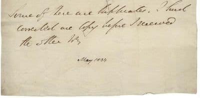 Duke of Wellington Autograph Signed Note