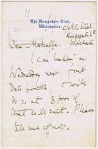 E F Benson Autograph Note Signed - Mapp and Lucia
