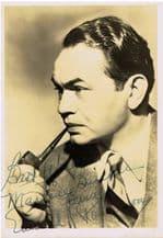 Edward G Robinson Autograph Signed Photo