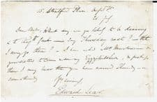 Edward Lear Autograph Letter Signed