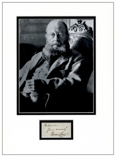 Edward Lear Autograph Signed