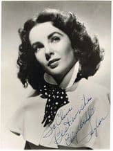 Elizabeth Taylor Autograph Signed Photo