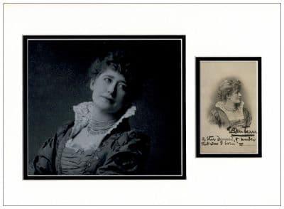 Ellen Terry Autograph Display