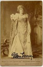 Ellen Terry Autograph Signed Cabinet Card