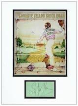 Elton John Autograph Display