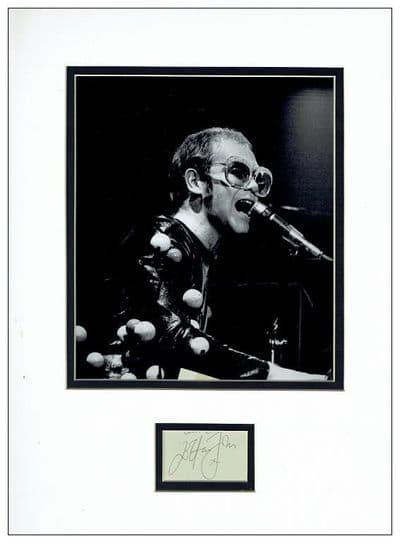 Elton John Autograph Signed Display