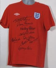 England 1966 World Cup Team Autograph Signed Shirt