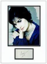Enya Autograph Signed Display