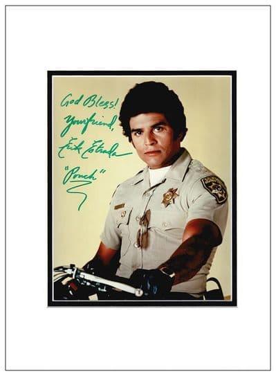 Erik Estrada  Signed Photo - CHiPs