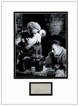 Ernest Thesiger Autograph Display - Bride of Frankenstein