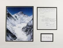 Everest Autograph Signed Display - Hunt & Hillary