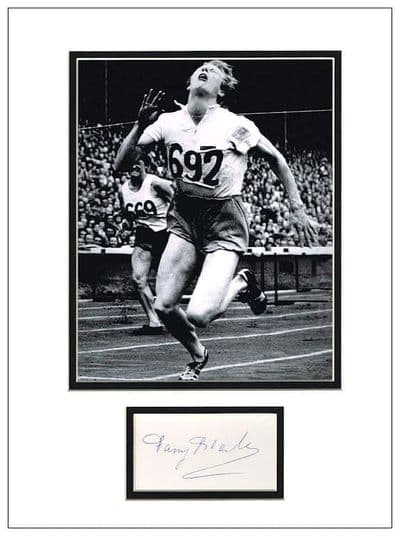 Fanny Blankers-Koen Autograph Signed Display