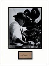 Federico Fellini Autograph Display