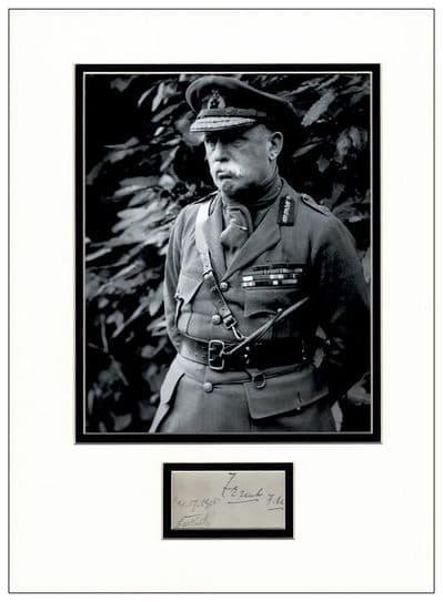 Field Marshal John French Autograph Display - First World War