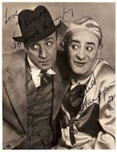 Flanagan and Allen Autograph Signed Photo