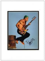 Flea Autograph Photo Signed - Red Hot Chili Peppers