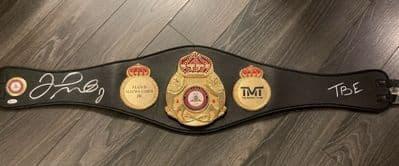 Floyd Mayweather Signed Boxing Belt