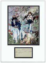 Frances Hodgson Burnett Autograph Signed Display