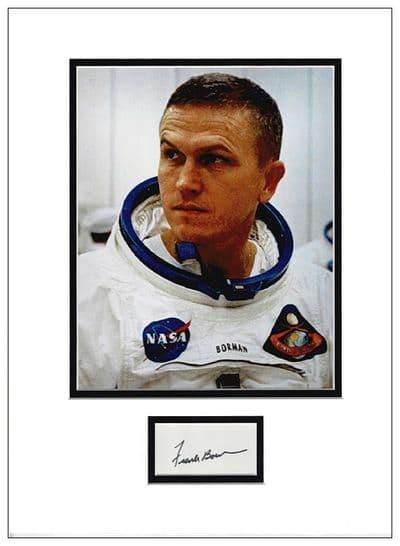 Frank Borman Autograph Display - Apollo 8
