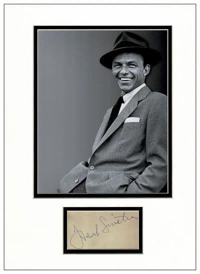 Frank Sinatra Authentic Autograph For Sale