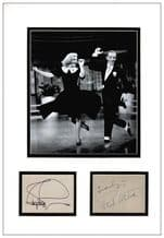 Fred Astaire & Ginger Rogers Autograph Signed Display
