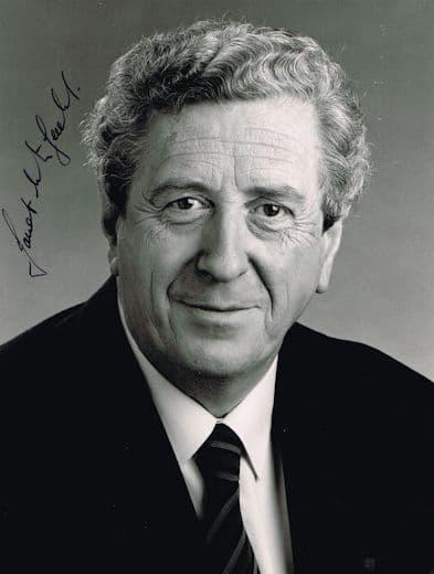 Garret FitzGerald Autograph Signed Photo