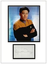 Garrett Wang Autograph Signed Display - Voyager