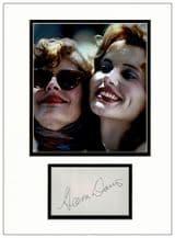 Geena Davis Autograph Signed Display
