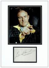 Gene Hackman Autograph Signed Display - Superman