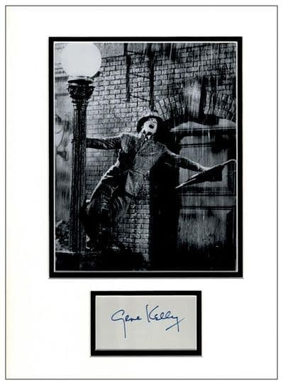 Gene Kelly Autograph Signed Display