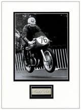 Geoff Duke Autograph Display
