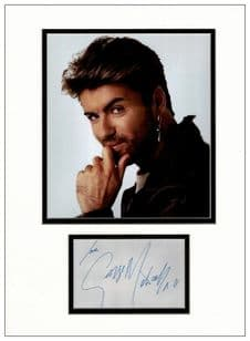 George Michael Autograph Signed Display