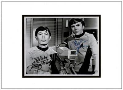 George Takei Autograph Signed Photo Sulu Star Trek