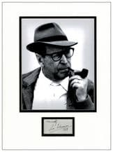 Georges Simenon Autograph Signed Display
