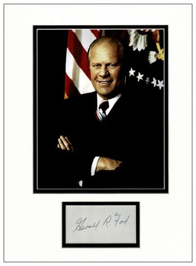 Gerald Ford Authetic Autograph Signed For Sale
