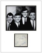 Gerry & The Pacemakers Autograph Signed Display