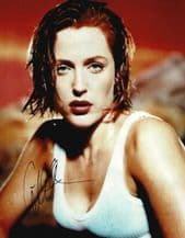 Gillian Anderson Autograph Signed Photo - The X-Files