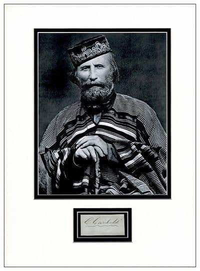 Giuseppe Garibaldi Autograph Display