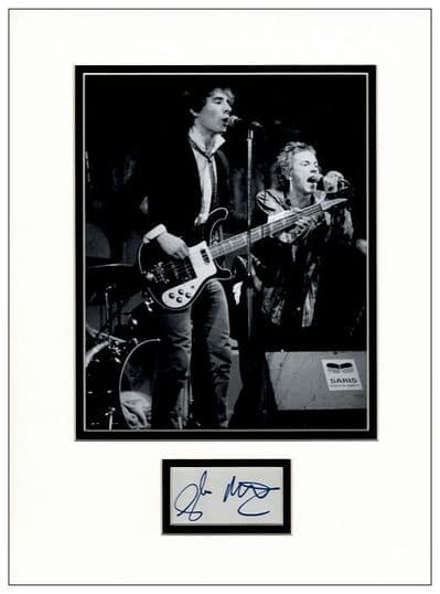 Glen Matlock Autograph Signed Display - Sex Pistols
